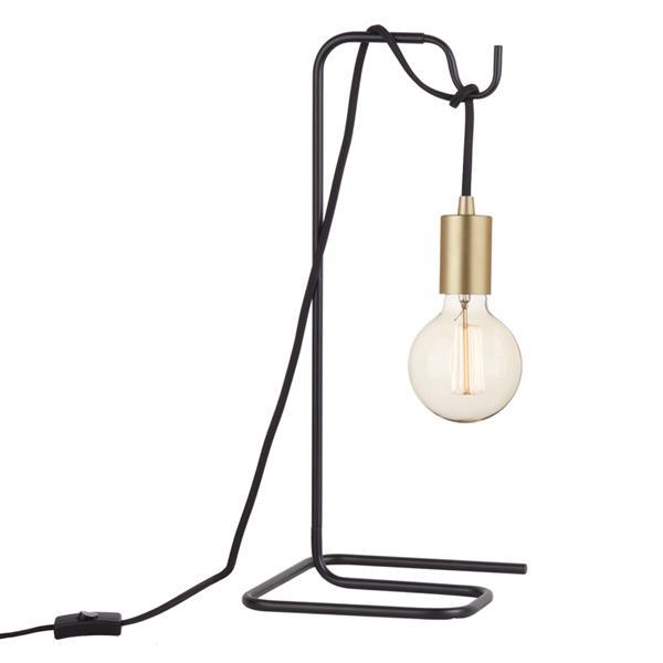 """Lampe de table Designer Series, 18"""", métal, noir"""