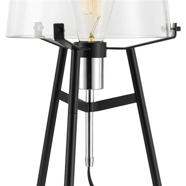 """Lampe de table Lancaster, 20"""", métal, noir"""
