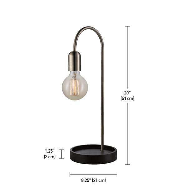 """Lampe de table Kraven, 20"""", métal, laiton"""