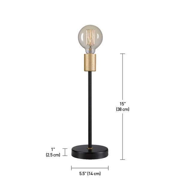 """Lampe de table Remington, 15"""", métal, noir"""