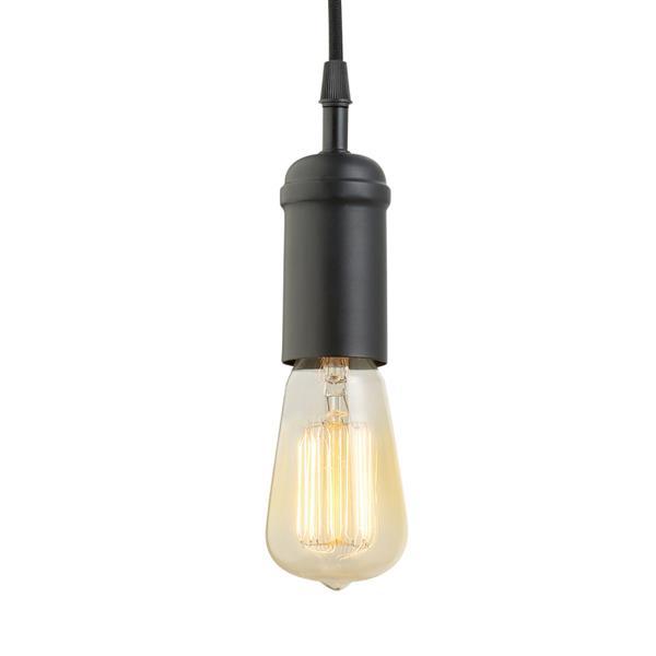 """Pendentif suspendu Edison, 1 lumière, 65"""", noir"""
