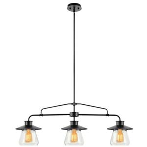 Luminaire suspendu Nate, 3 lumières, 45 po, bronze