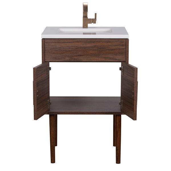 """Garland Bathroom Vanity - 24"""" x 36"""" - Wood - Brown"""
