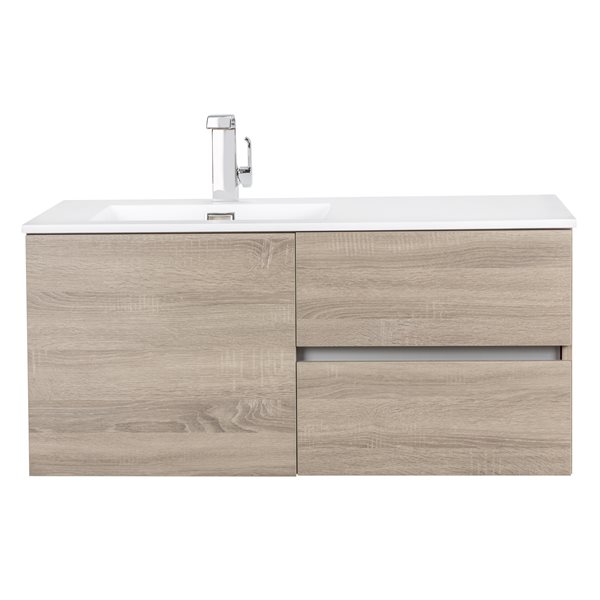 "Beachwood Wall Mount Vanity - 42"" x 20"" - Beige"