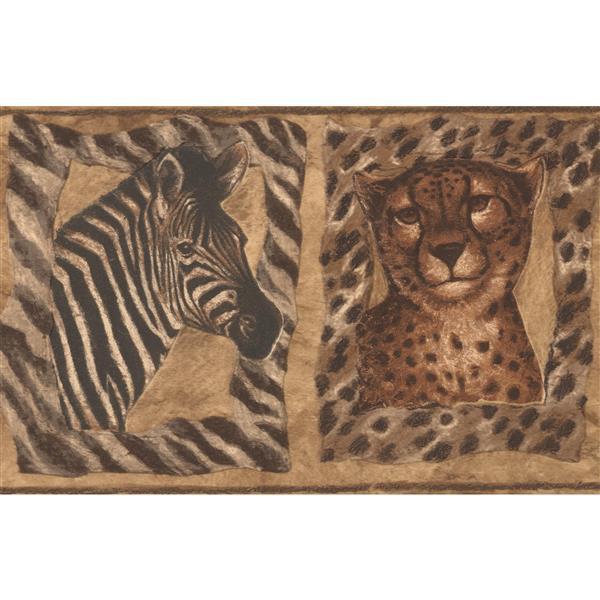 Jungle Animals Zebra Tiger Cheetah Giraffe Wallpaper Border
