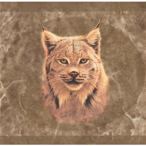 "Retro Art Wallpaper Border - 15' x 8"" - Lynx Pictures - Brown"