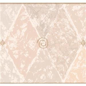 York Wallcoverings Wallpaper Border - 15-ft x 10.5-in - Abstract Rhombus - Beige