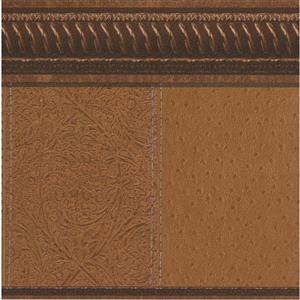 "Retro Art Wallpaper Border - 15' x 10.5"" - Old Style - Brown"