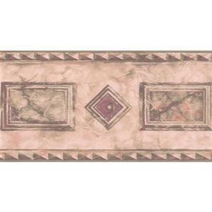 "Retro Art Wallpaper Border - 15' x 5"" - Geometric Design - Magenta"