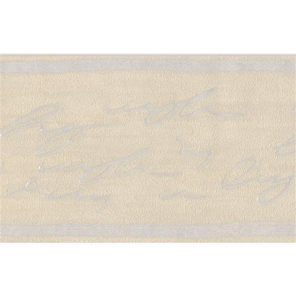 "Retro Art Wallpaper Border - 15' x 5"" - Abstract Cursive Writing"