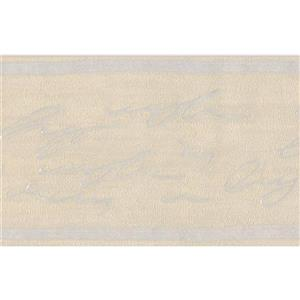 "Retro Art Wallpaper Border - 15' x 5"" - Abstract Cursive Writing"