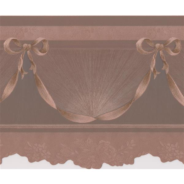"Retro Art Wallpaper Border - 15' x 6"" - Victorian Design - Sepia/Amber"