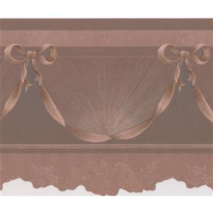 "Retro Art Wallpaper Border - 15' x 6"" - Victorian Design - Sepia/Amber"