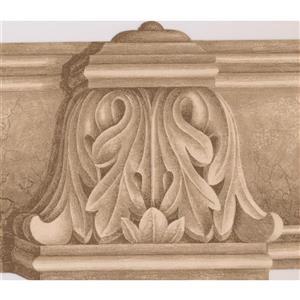 Norwall Wallpaper Border - 15' x 7-in- Victorian Design - Brown