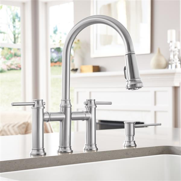Empressa Pull-Down Dual Faucet - Stainless Steel