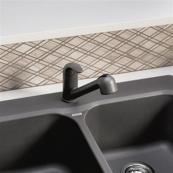 Blanco Torino Pull-Out Kitchen Faucet - Ash