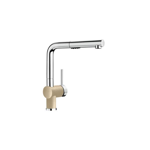 Posh Pull-Out Kitchen Faucet - Chrome/Biscuit