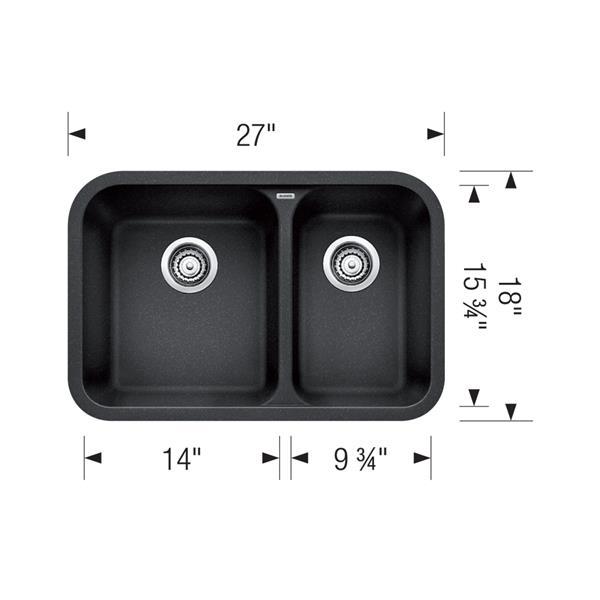Vision Undermount Kitchen Sink - White