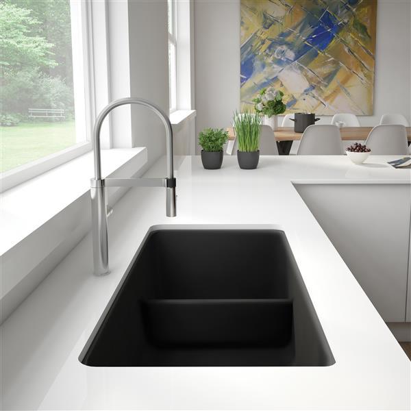 Blanco Evier Sous Plan Avec Diviseur Bas Precis Noir 402065 Rona