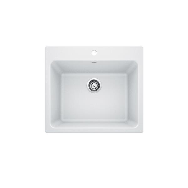 Blanco Liven Single Bowl Laundry Sink - White