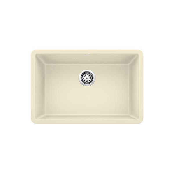 Precis Single Undermount Sink - Biscuit