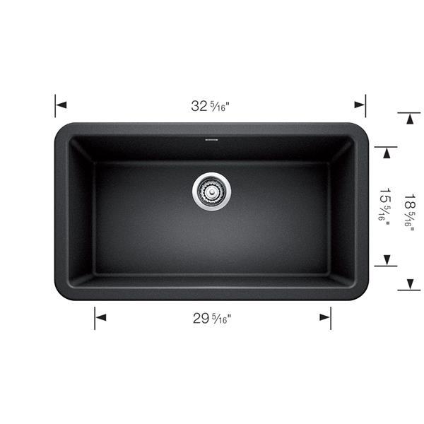 Blanco Ikon Farmhouse Kitchen Sink - 33-in - Café