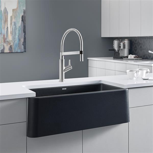 Blanco Ikon Farmhouse Kitchen Sink - 33-in- Black