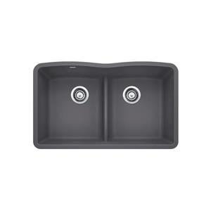 Diamond Low Divide Undermount Sink - Ash