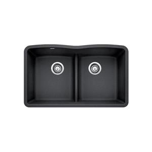 Blanco Diamond Low Divide Kitchen Sink - Black