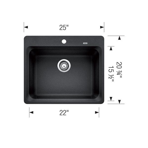 Évier à montage en surface Vision, biscuit