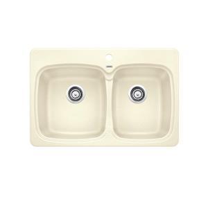 Vienna Drop-In Kitchen Sink - Biscuit
