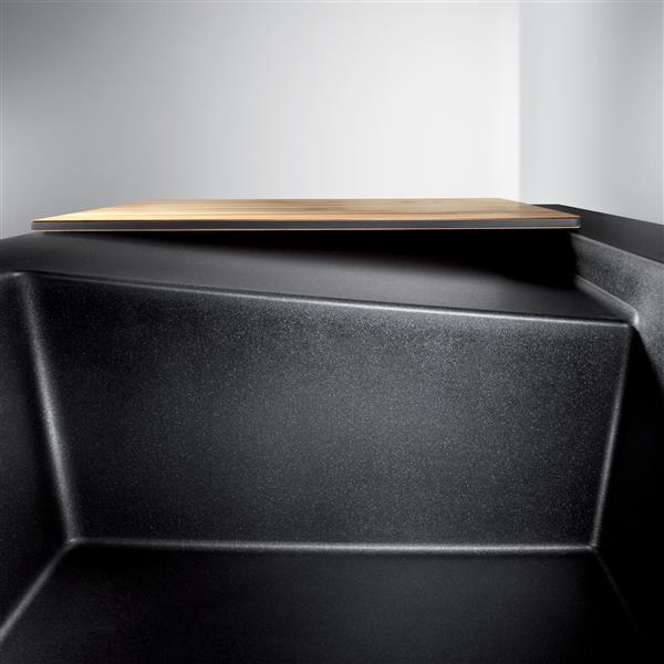 Évier en surface avec bordure relevée Modex, noir