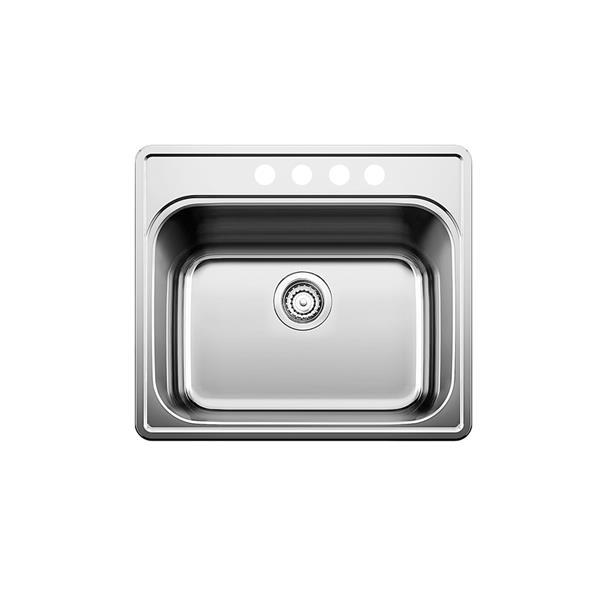 Évier de cuisine Blanco Essential, chrome, 25 po