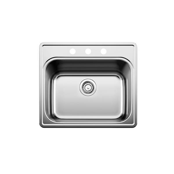 Évier de cuisine Essential de Blanco, chrome, 25 po