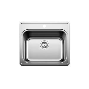 Évier de cuisine ou de bar Blanco Essential, chrome, 25 po