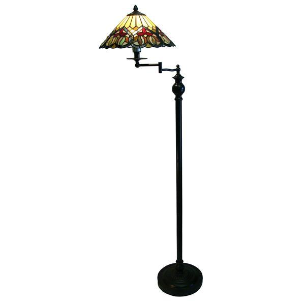 """Lampes sur pied style Tiffany à bras  pivotant, 14"""" x 63"""""""