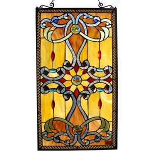 "Fine Art Lighting Ltd. Tiffany Window Panel - 15"" x 26"" - Rectangular"