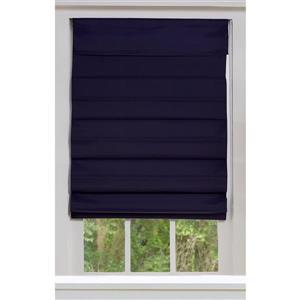 """Store romain coupe-lumière en tissu, 66"""" x 72"""", bleu minuit"""