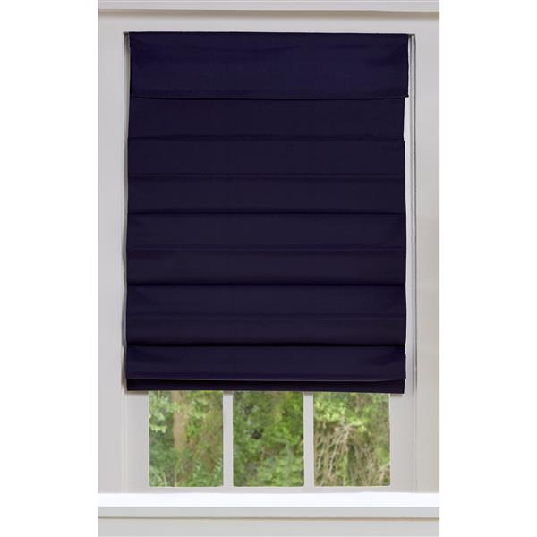 """Store romain coupe-lumière en tissu, 55"""" x 72"""", bleu minuit"""