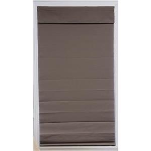 """Store romain coupe-lumière en tissu, 64""""x 72"""", gris"""