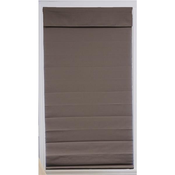 """Store romain coupe-lumière en tissu, 24""""x 72"""", gris"""