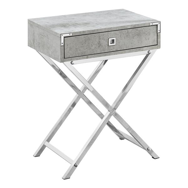 Monarch Accent Table - 12-in x 24-in - Composite - Gray