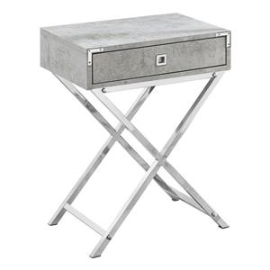 "Table d'appoint, 12"" x 24"", composite, gris"