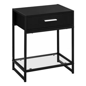 Monarch Accent Table - 12-in x 22.25-in - Composite - Black