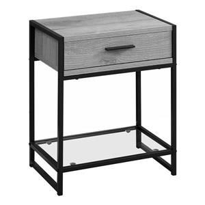 Monarch Accent Table - 22.25-in - Composite - Gray