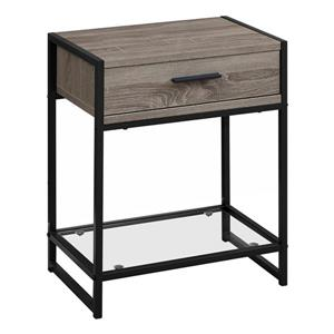 Monarch Accent Table - 22.25-in - Composite - Dark taupe