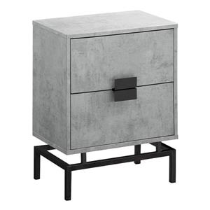 "Table gigogne, 23,5"", composite, gris"