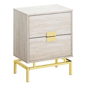 Monarch Accent Table - 23.5-in - Composite - beige