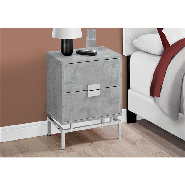 Monarch End Table - 12.75-in - Composite - Gray
