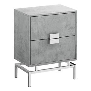 "Table d'appoint, 12,75"", composite, gris"